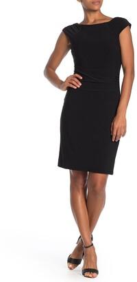 Catherine Malandrino Cap Sleeve Shirred Side Dress