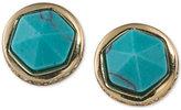 Lauren Ralph Lauren Gold-Tone Blue Stone Stud Earrings