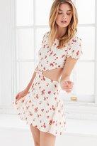 For Love & Lemons Cherry Cutout Tie Front Dress