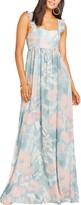 Show Me Your Mumu June Floral Print Ruffle Strap Gown