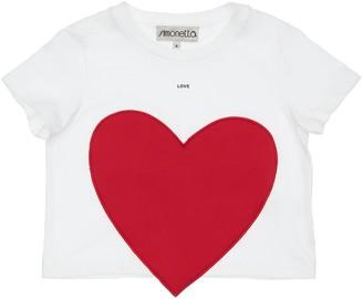 Simonetta Cotton Jersey T-Shirt W/ Heart