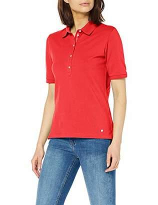 Brax Women's Cleo Finest Piqué Stretch Poloshirt Uni Polo Shirt, (Summer Red 43), (Size: 38)