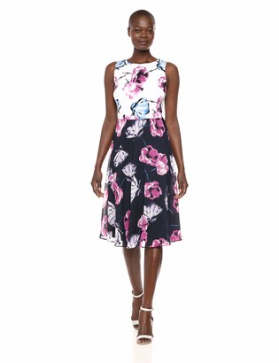SL Fashions Women's Floral Printed Party Dress
