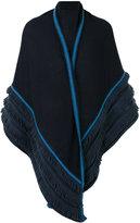 Antonia Zander shawl with fringe detailing