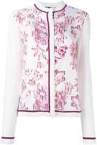 Salvatore Ferragamo floral print cardigan - women - Silk/Virgin Wool - L