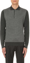 Brioni Geometric Print Silk-blend Polo Jumper