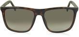 Gucci GG 1132/S DWJHA Havana Acetate Square Frame Men's Sunglasses