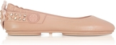 Tory Burch Minnie Two Way Warm Blush Nappa Leather Ballet Flats