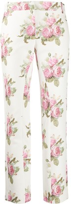 Paco Rabanne Floral-Print Trousers
