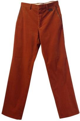 Hermes Orange Velvet Trousers