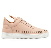 Filling Pieces Perforated Down low-top leather trainers
