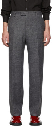 Prada Grey Wool Prince Of Wales Trousers