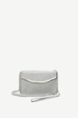 Ardene Glitter Clutch Crossbody Wallet