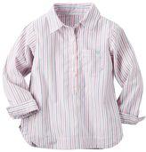 Carter's Baby Girl Pink Striped Woven Shirt