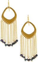 Nakamol Textured Pearl Fringe Earrings