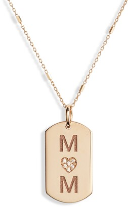Chicco Zoe Mom Diamond Dog Tag Necklace