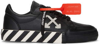 Off-White Black and White Low Vulcanized Sneakers