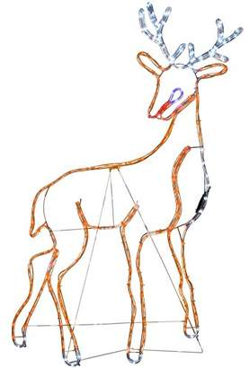 Camilla And Marc WeRChristmas Stag Reindeer Rope Lights Silhouette Christmas Decoration, 130 cm - Large, Multi-Colour