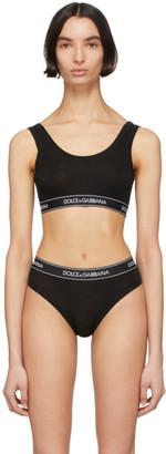 Dolce & Gabbana Black Jersey Sports Bra
