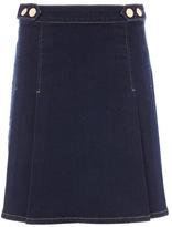 Tu clothing Dark Denim Denim Pleat Skirt