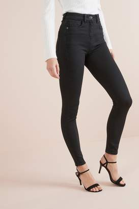 Next Womens Black Hypercurve Skinny Jeans - Black