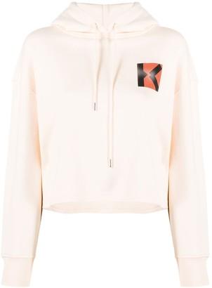 Kenzo K logo cropped hoodie