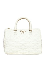 RED Valentino Embroidered Effect Leather Top Handle