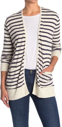 Madewell Striped Lightweight Pocket Cardigan