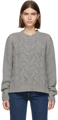 Helmut Lang Grey Cable Sweater