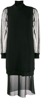 McQ roll neck shift dress