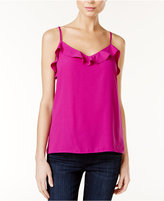 Kensie Ruffled Crepe Top