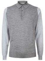 John Smedley Brightgate Contrast Sleeve Polo Shirt