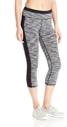 Andrew Marc Women's Space Dye Crop Legging with Solid Side