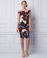 Le Château Floral Print Knit Crepe Shift Dress