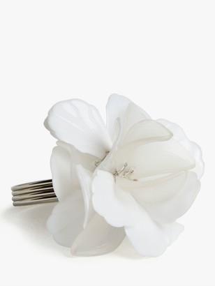 John Lewis & Partners Flower Napkin Rings, Set of 4, White