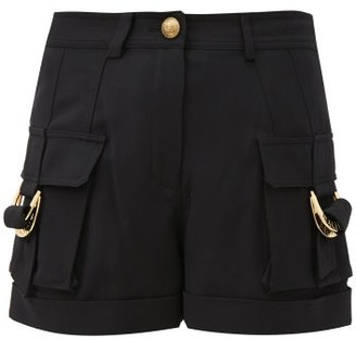 Balmain Patch-pocket High-rise Twill Shorts - Black