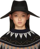 Maison Michel Black Fara Capeline Hat