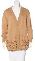 Prada Virgin Wool Ruffle-Trimmed Cardigan