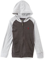 English Laundry Charcoal Color Block Zip-Up Hoodie - Boys