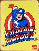 Poster Revolution Captain America Distressed Retro Vintage Tin Sign - 13x16