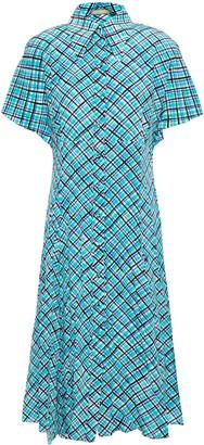 Michael Kors Checked Silk-crepe Shirt Dress