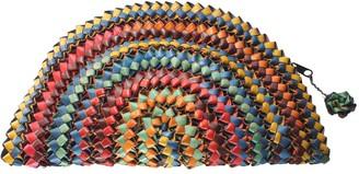Flora Palm Clutch - Multicolour