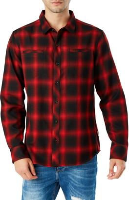 7 Diamonds Falcon Slim Fit Plaid Flannel Shirt