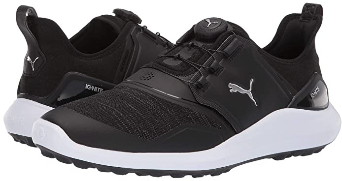 Puma Ignite Nxt Disc Black Silver White Men S Golf Shoes Shopstyle