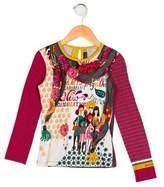 Catimini Girls' Printed Knit Top