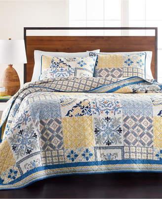 Martha Stewart Collection La Dolce Vita Patchwork Twin Quilt