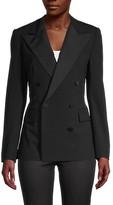Wool-Blend Tuxedo Jacket