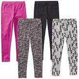 Spotted Zebra Toddler Girls' 4-Pack Leggings