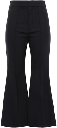Chloé Cropped Stretch-wool Flared Pants