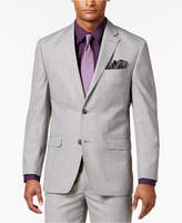 Sean John Men's Classic-Fit Black/White Plaid Suit Jacket